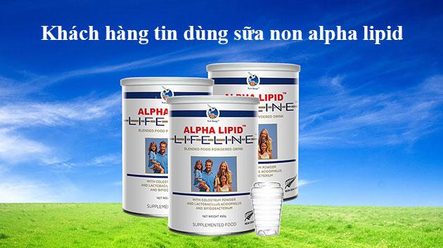 Khách hàng tin dùng sữa non alpha lipid